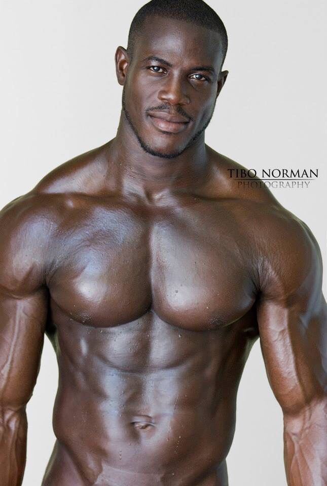 naked gay black man