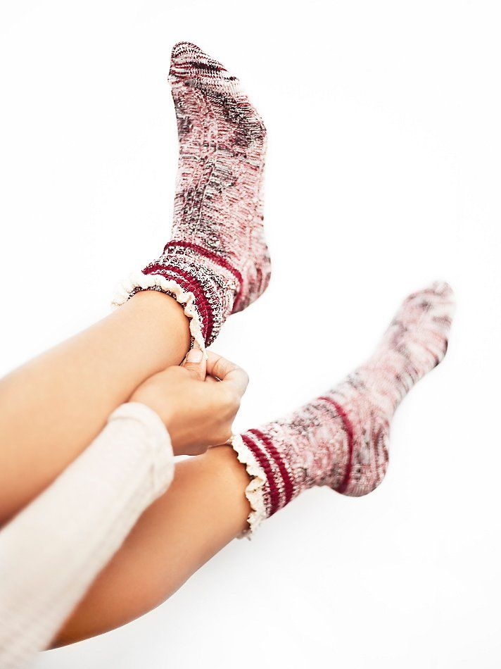 Free People Laweson Ruffle Boot Sock at Free People Clothing Boutique