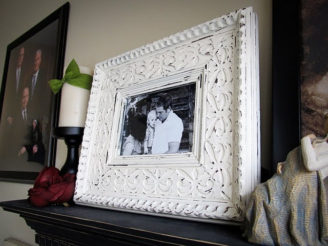 60 best everything frames images on pinterest picture frame lovely little snippets quick frame makeover sprayed a frame with 2 coats of paint and then used sandpaper to age solutioingenieria Gallery