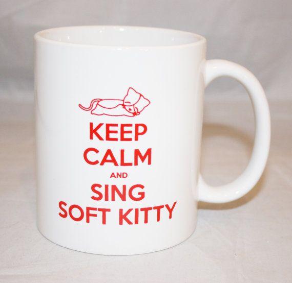 Big Bang Theory Inspired Soft Kitty Mug by KennieBlossoms on Etsy, $15.00