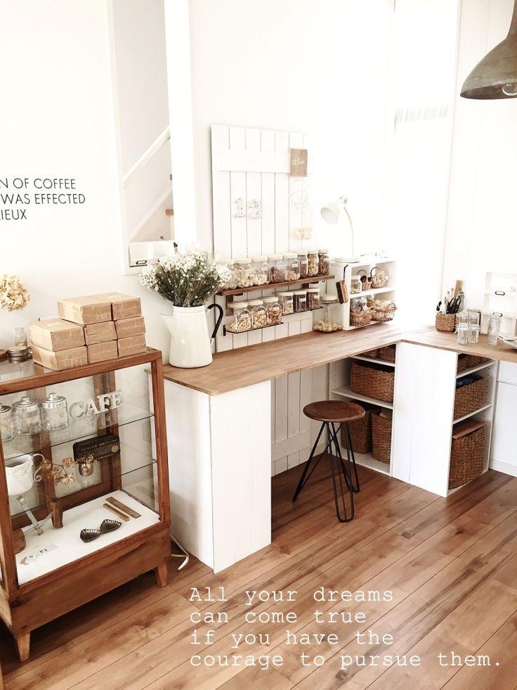 ●ニトリのカラボ家具*カスタム自在!!アトリエ兼カフェにリビング模様替え● | ・:*:ナチュラルアンティーク雑貨&家具のお部屋・:*