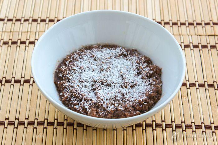 Csokis-kókuszos zabkása chia maggal - NAGYON JÓ