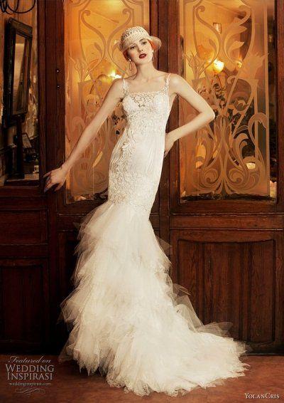 Flapper style wedding dress - 1920s inspired