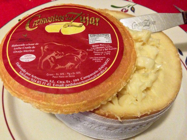 CREMOSITOS DEL ZUJAR.  Torta de La Serena.  Queso de leche de oveja pura merina. Bronce en los World Cheese Awards 2013.