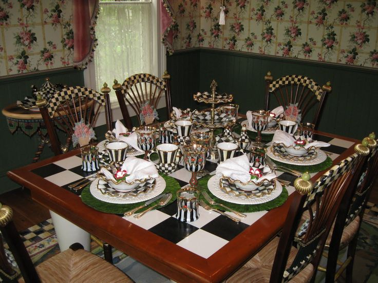 Mackenzie Childs Courtly Check Table Setting Chairs