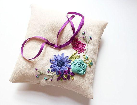 Ring pillow with Ribbon | Michelle Edgemont @ MichelleEdgemont | $100.00