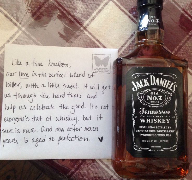 Wedding Gift 7 Year Anniversary : Wills 7 year anniversary gift, totally pin worthy : ) #jackdanielsno7 ...