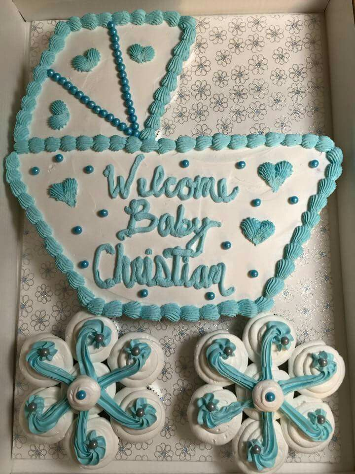 Pull Apart Cupcake Cakes For Baby Shower