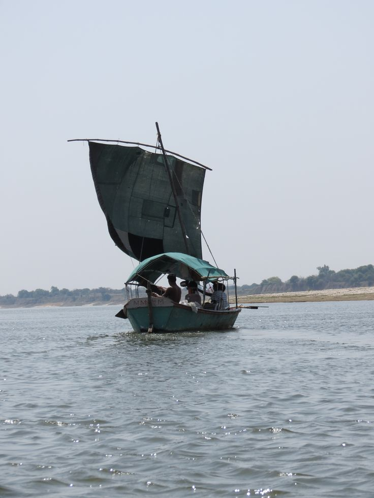 sailing down the Ganges