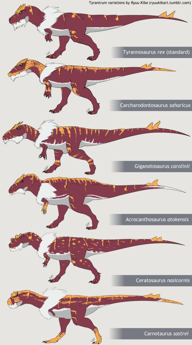 Tyrantrum Variations by RyuuKiba on DeviantArt