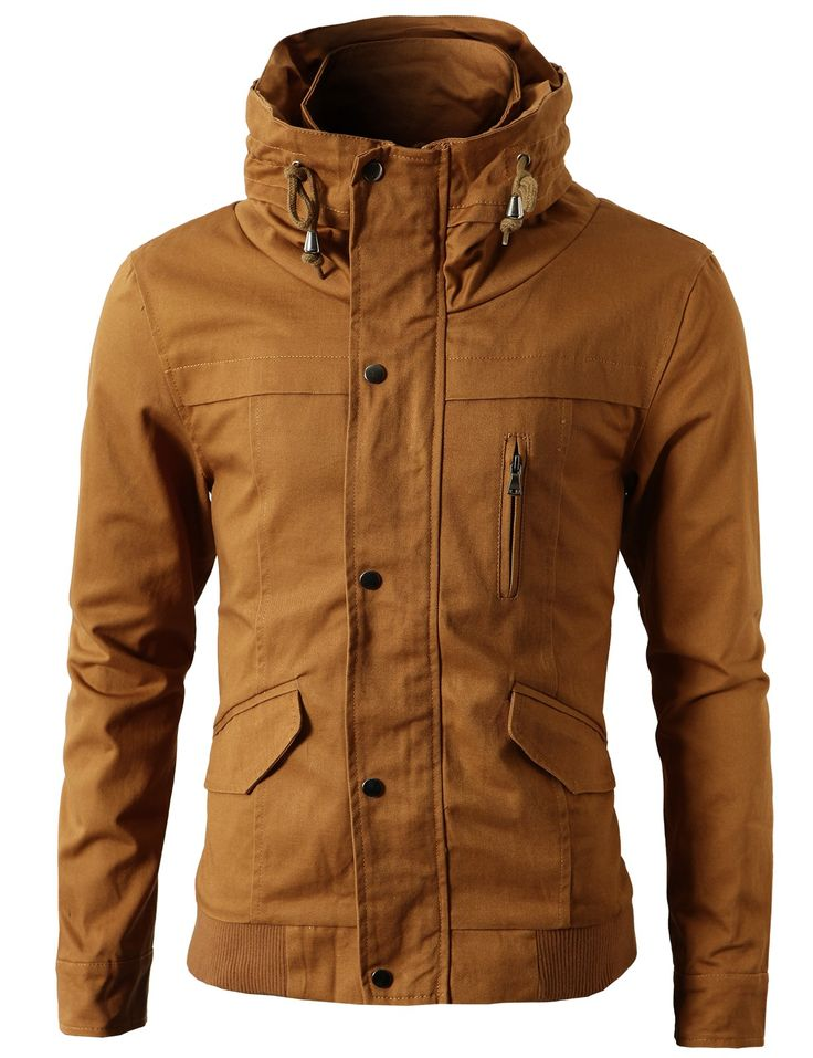 Mens High-neck Field Jackets without Hood (KMOJA024)