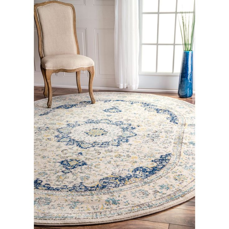 nuloom traditional persian vintage blue oval rug 6u00277 x 9 oval