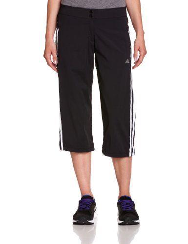 €12:21 * Gr. 34 * adidas Damen 3/4 Hose Training Core Woven, black/white *** günstige Sportbekleidung