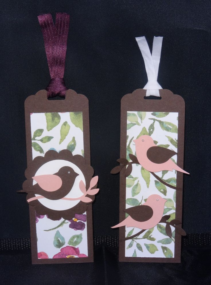 Marque page Stampin'Up - Passereau en kit