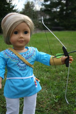 Arts and Crafts for your American Girl Doll: Modern Recurve Bow for American Girl Doll