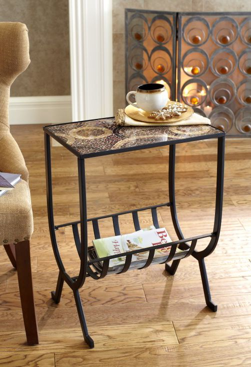 Pier 1 Mosaic Magazine Accent Table Knows How To Multitask   I Bought This,  Looks