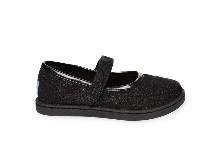 undefined Black Glimmer Tiny TOMS Mary Janes