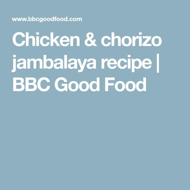 Chicken & chorizo jambalaya recipe | BBC Good Food