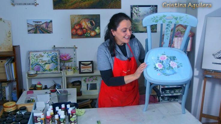 Pintar rosas y lilas , pintura efecto tiza .