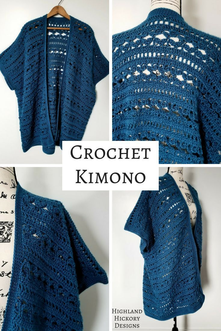 dc0fa55e804ab Crochet the Water s Edge Kimono with this free pattern. The perfect  layering piece for your wardrobe