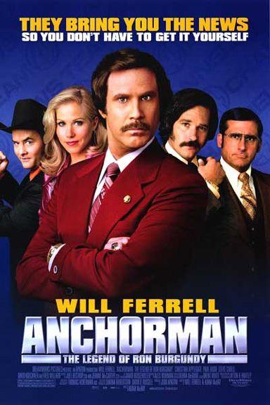 Anchorman: The Legend Of Ron Burgundy (2004) - Will Ferrell, Christina Applegate, Steve Carell, Paul Rudd