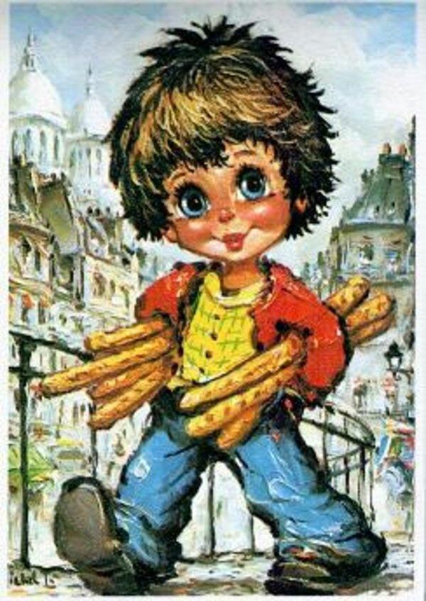 Francisque Poulbot, créateur du célèbre poulbot de Montmartre... J'avais une représentation de celui qui fait pipi, dans ma chambre :-)
