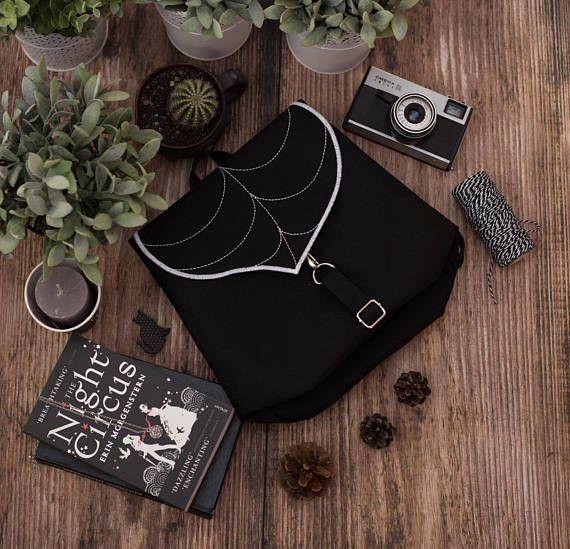 Black Leaf Mini Backpack Women's Rucksack Hipster