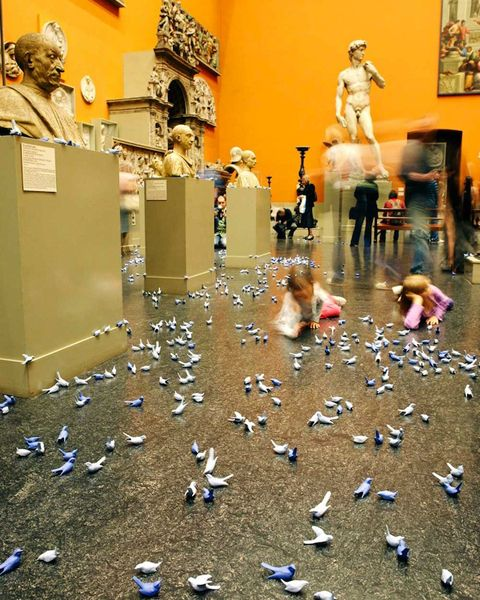 Захват музея керамическими птицами