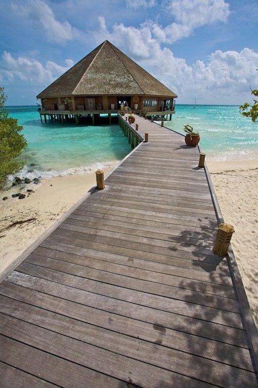 """The Maalan restaurant, Meeru, Maldives"" by Kjetil M. Bergem"