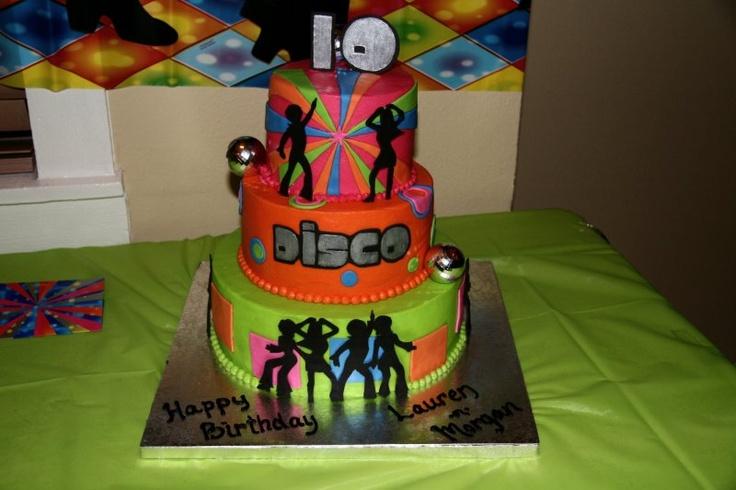 70s Disco Theme Birthday Cake