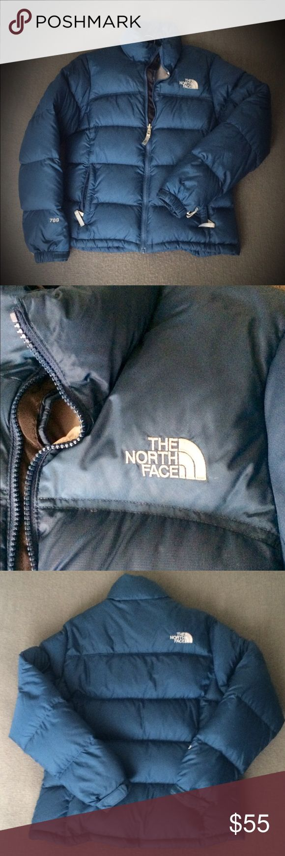 The North Face nuptse jacket The North Face Nuptse jacket. 700fill goose down puffer jacket. Color: blue Size: small. Great shape! No rips/stains/discoloration. Has been warn but was dry cleaned after winter. Great condition! The North Face Jackets & Coats Puffers