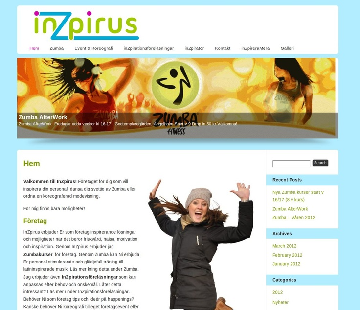 Gaia Design Portfolio - inZpirus website