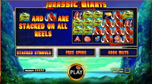 Jurassic Giants slot  gives you free spins and a total of 4096...