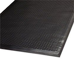Guardian Clean Step Scraper Outdoor Floor Mat, Natural Rubber, 3'x5′, Black, Ideal for any outside entryway, Scrapes Shoes Clean of Dirt and Grime
