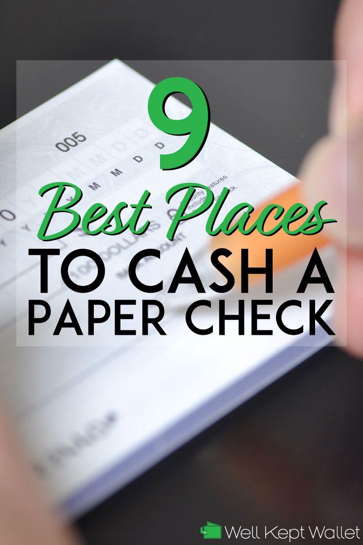 9 Best Places To Cash A Personal Check Money Management Printables Finance Blog Smart Money