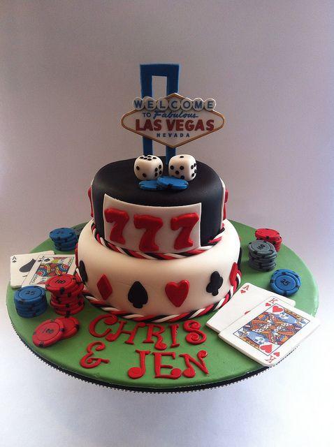 Las Vegas engagement cake
