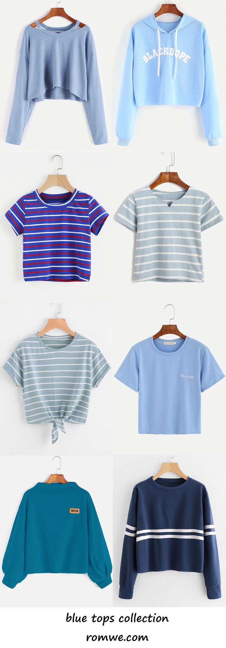 blue tees collection 2017 - romwe.com