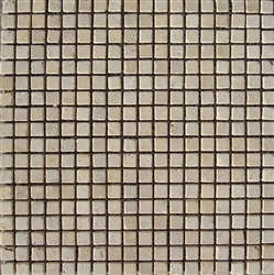 "Stone Mart USA's 5/8""x5/8"" Sunny Beige Tumbled Limestone Mosaic Tile"