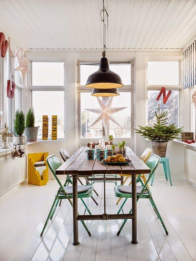 Combina sillas metálicas y vintage | Decorar tu casa es facilisimo.com