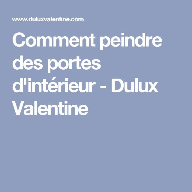 Comment peindre des portes d'intérieur - Dulux Valentine