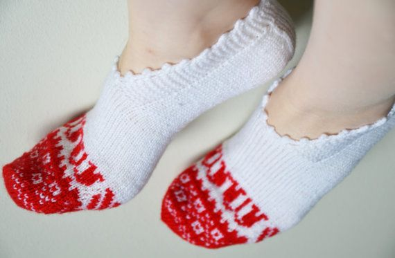 hand knitted wool slippers traditional white by LOVELYCHICKNITTING