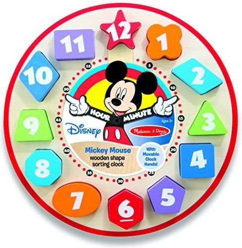 Product review for Melissa & Doug Disney Mickey Mouse Wooden Shape Sorting Clock -  It's time for fun with Mickey! Place the numbered wooden shapes and turn the hands—children will develop fine motor skills while exploring numbers, colors, and matching, too. The time is always right for learning!  -  http://www.bestselleroutlet.net/product-review-for-melissa-doug-disney-mickey-mouse-wooden-shape-sorting-clock/