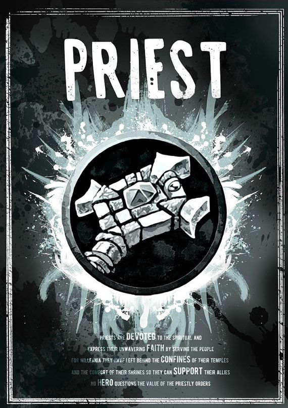 World of Warcraft: Priest Class Symbol print/poster by SodaArcade