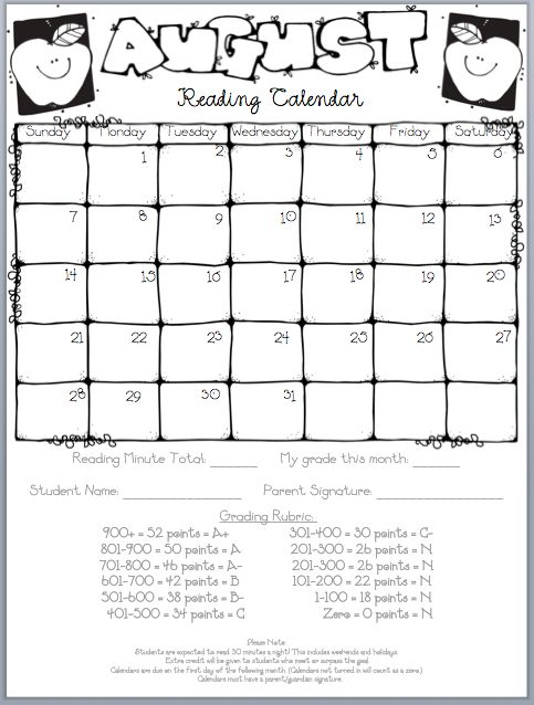 Monthly Reading Calendar : Best ideas about reading writing logs for kids on