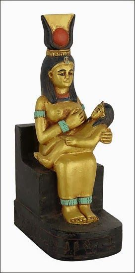 """Isis """"Queen of Heaven"""" holding her baby son Horus. The Roman Emperor Constantine renamed this image """"Mary  Baby Jesus"""" in the 3rd Century, but this image is none other than the original Queen of Heaven named Semiramis and she is holding her baby son Tammuz. http://doubleportioninheritance.blogspot.com/2012/02/queen-of-heaven-why-does-church.html Deception started in the Garden of Eden."""