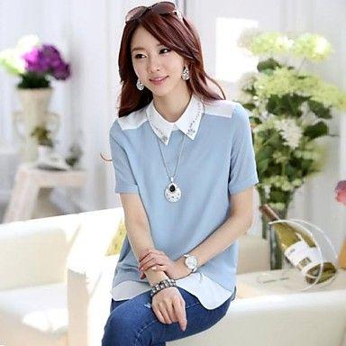 Taichang ™ Mujeres camiseta temperamento gasa – USD $ 20.99