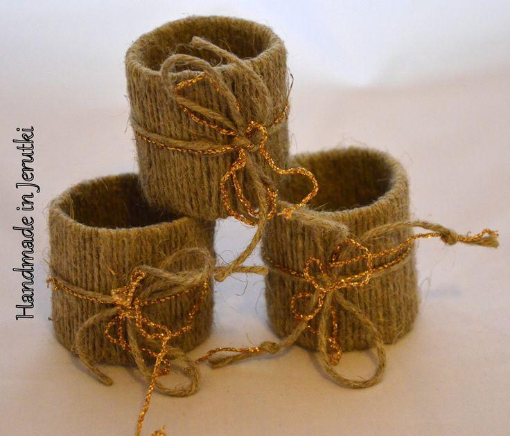 Handmade in Jerutki: Świąteczne pierścienie na serwety / Napkin rings
