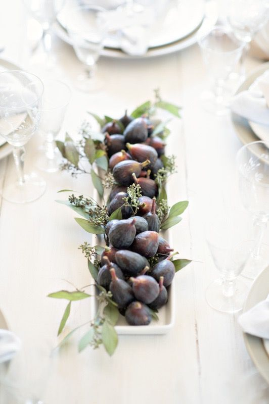 Make an amazing Rosh Hashanah centerpiece with just three things readily at hand.
