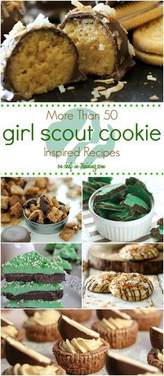 Over 50 Girl Scout Cookie Inspired Recipes… now you can enjoy the flavor of girl scout cookies all year long! Love this list!
