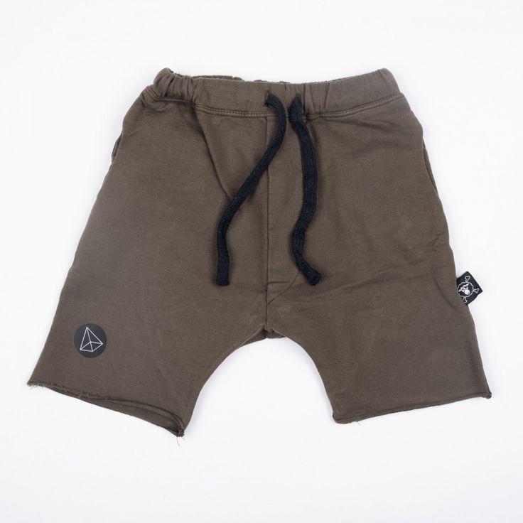 Nununu olivgrüne Shorts mit Tunnelzug